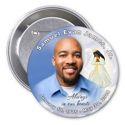 Angel Memorial Button Pins