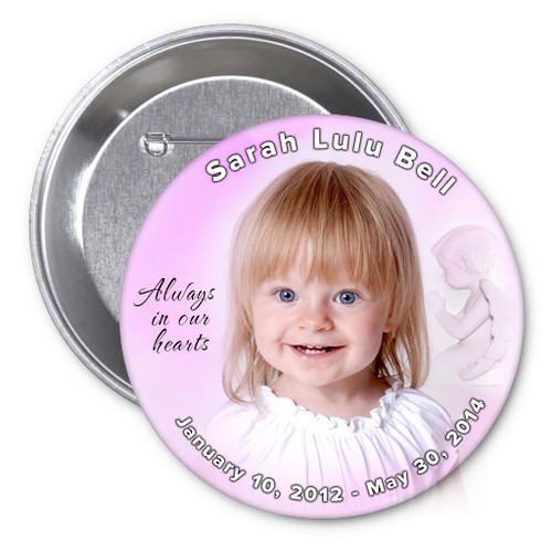 Angela Memorial Button Pin