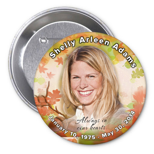 Autumn Memorial Button Pins