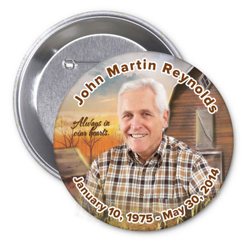 Barn Memorial Button Pin