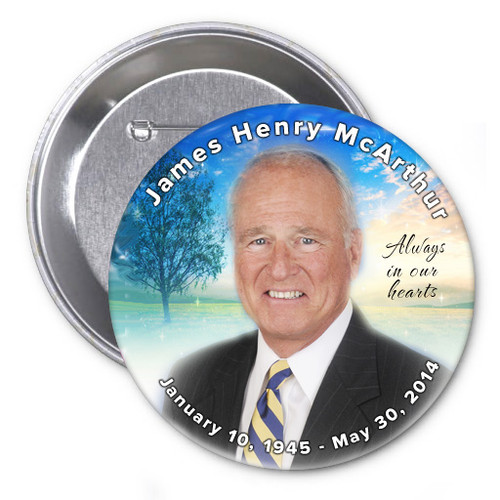 Destiny In Loving Memory Memorial Button Pins