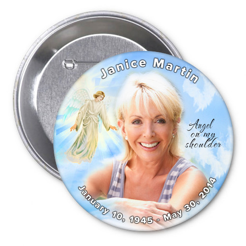 Devout Memorial Button Pin