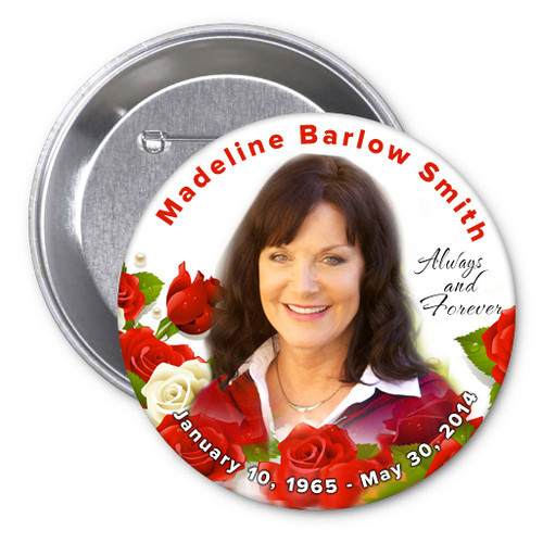 Diva In Loving Memory Memorial Button Pins