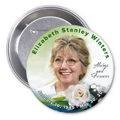 Divine In Loving Memory Memorial Button Pins