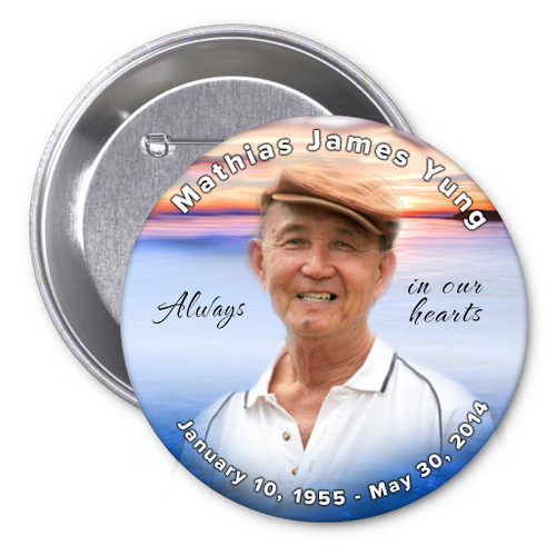 Dusk In Loving Memory Memorial Button Pins