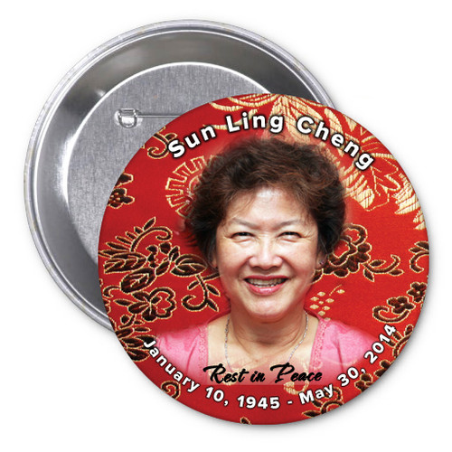 Dynasty In Loving Memory Memorial Button Pins