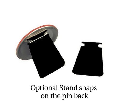 Enlighten In Loving Memory Memorial Button Pins back