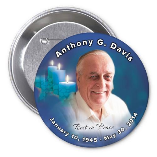 Enlighten Memorial Button Pin