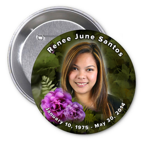 Essence In Loving Memory Memorial Button Pins