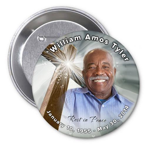 Eternal In Loving Memory Memorial Button Pins