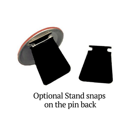 Football In Loving Memory Memorial Button Pins back