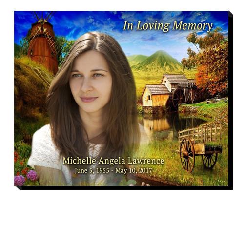 Country Landscape Memorial Plaque
