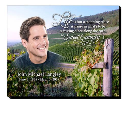 Grape Vineyards 20x16 In Loving Memory Memorial Plaques
