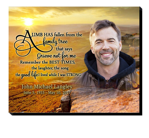 Horizon Sunset 20x16 In Loving Memory Memorial Plaques