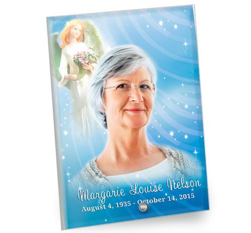 Angelic In Loving Memory Beveled Glass Memorial Portrait
