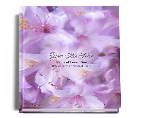 lavender funeral guest book
