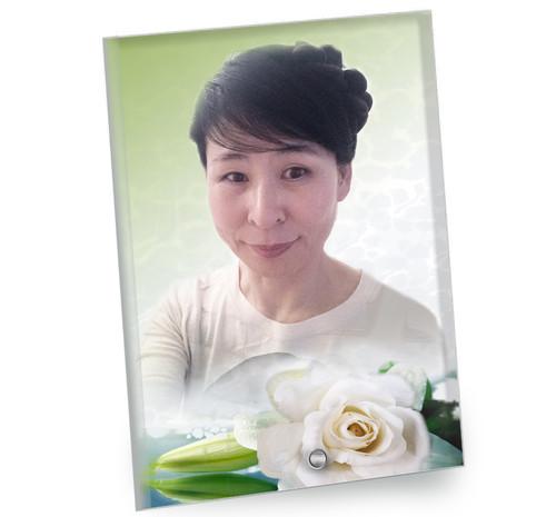 Divine In Loving Memory Beveled Glass Memorial Portrait