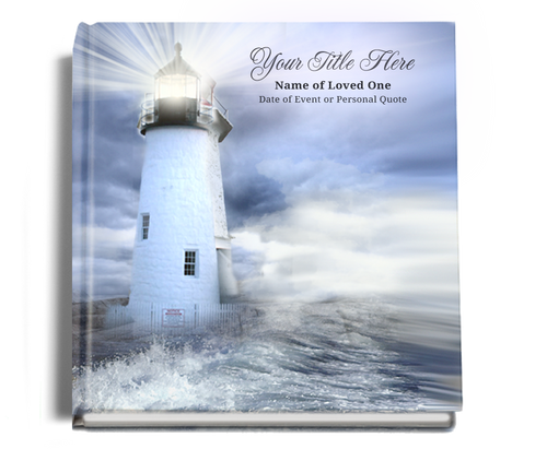lighthouse funeral guest book