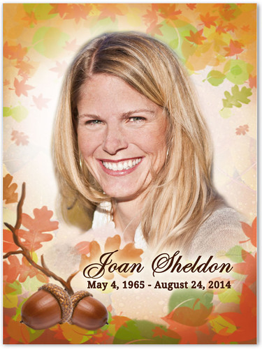 Autumn Memorial Portrait Poster