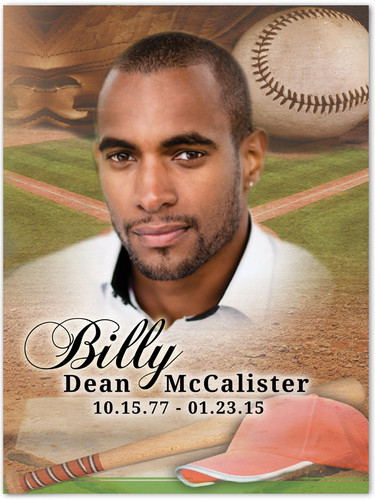 Baseball Memorial Portrait Poster
