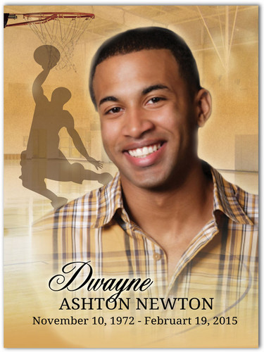 Basketball Memorial Portrait Poster