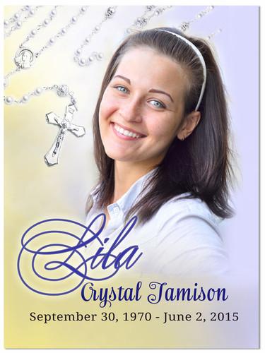 Beads Memorial Portrait Poster