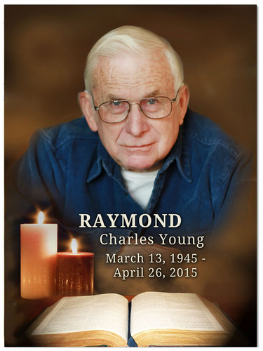 Bible In Loving Memory Memorial Portrait Poster