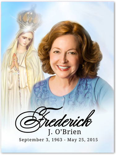 Blessed In Loving Memory Memorial Portrait Poster