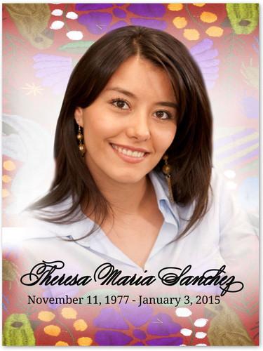 Bonita In Loving Memory Memorial Portrait Poster