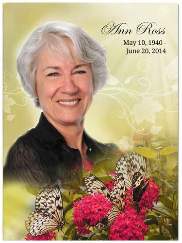 Bouquet In Loving Memory Memorial Portrait Poster
