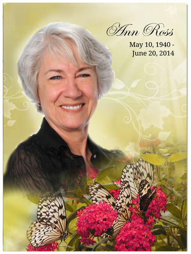 Bouquet In Loving Memory Memorial Portrait Poster