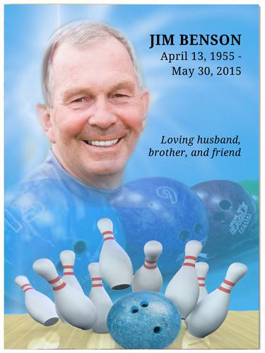 Bowling In Loving Memory Memorial Portrait Poster