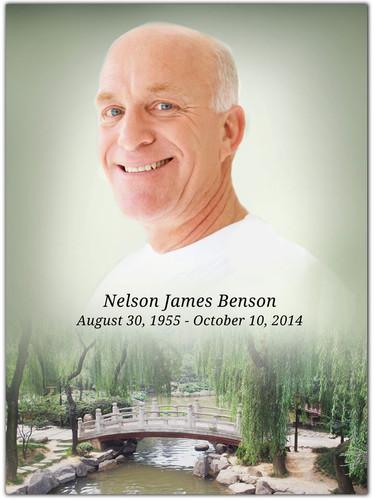Bridge In Loving Memory Memorial Portrait Poster