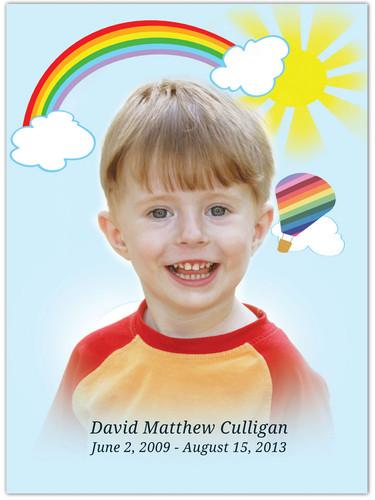 Bright In Loving Memory Memorial Portrait Poster