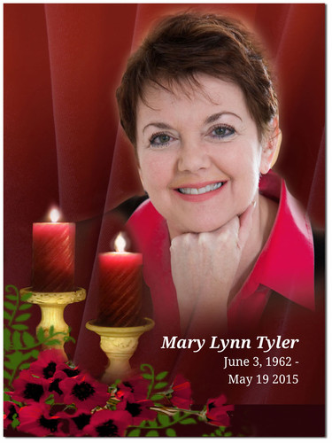 Candlelight In Loving Memory Memorial Portrait Poster