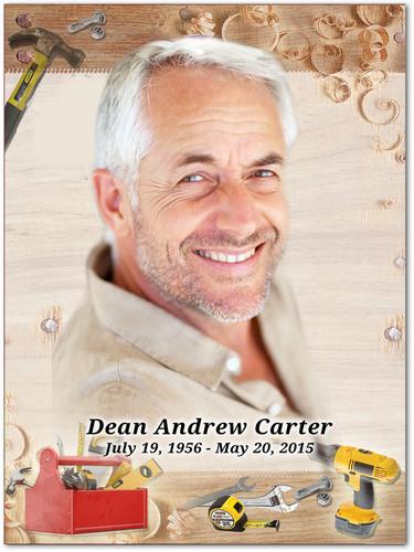 Carpenter In Loving Memory Memorial Portrait Poster