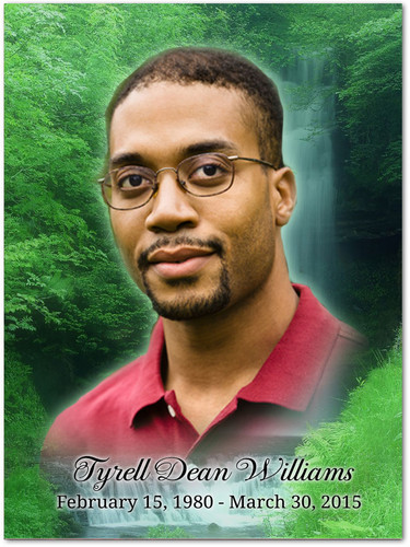 Cascade In Loving Memory Memorial Portrait Poster