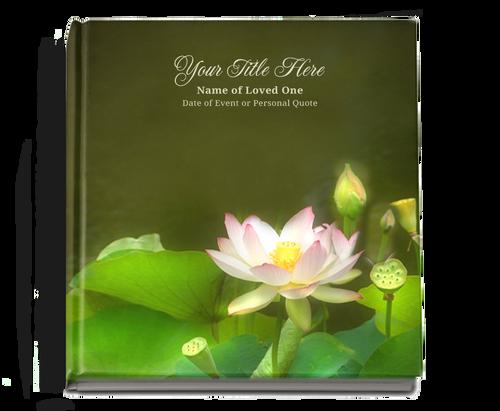 lotus funeral guest book
