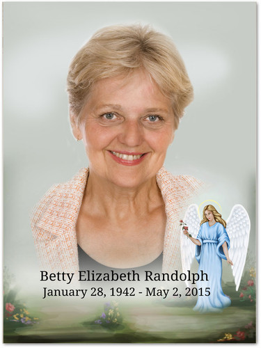 Charity In Loving Memory Memorial Portrait Poster