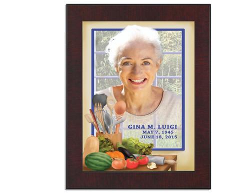 Chef In Loving Memory Memorial Portrait Poster frame