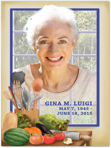 Chef In Loving Memory Memorial Portrait Poster