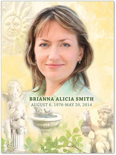 Cherub In Loving Memory Memorial Portrait Poster