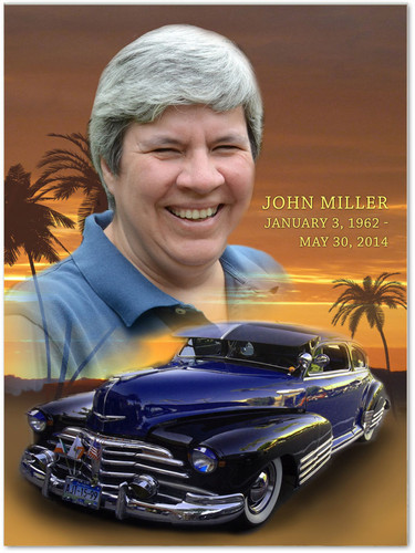 Classic Car In Loving Memory Memorial Portrait Poster