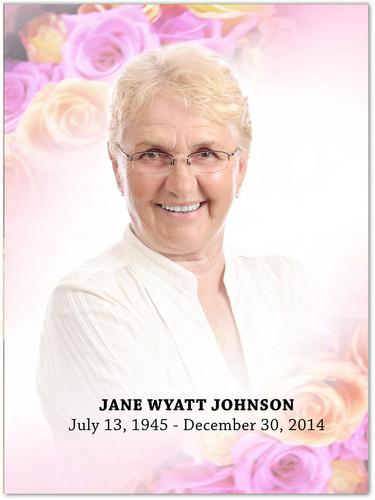 Coral In Loving Memory Memorial Portrait Poster
