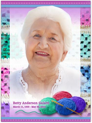 Crochet In Loving Memory Memorial Portrait Poster
