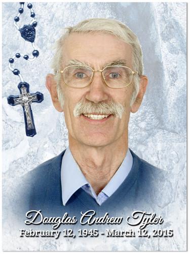 Crucifix In Loving Memory Memorial Portrait Poster