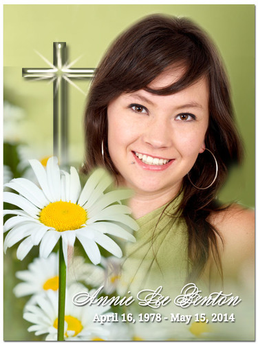 Daisy In Loving Memory Memorial Portrait Poster