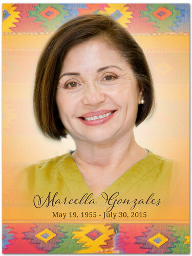 DeColores In Loving Memory Memorial Portrait Poster