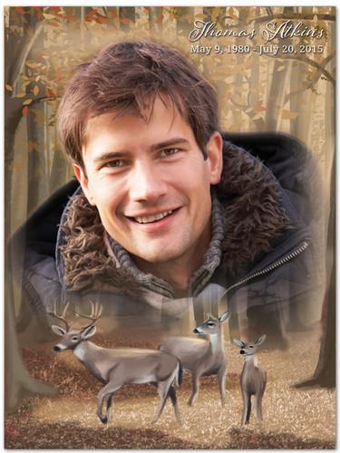 Deer In Loving Memory Memorial Portrait Poster
