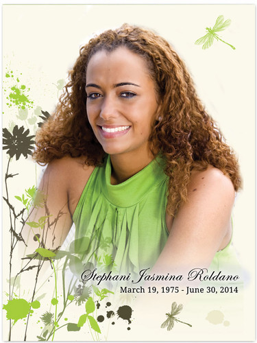 Dragonfly In Loving Memory Memorial Portrait Poster